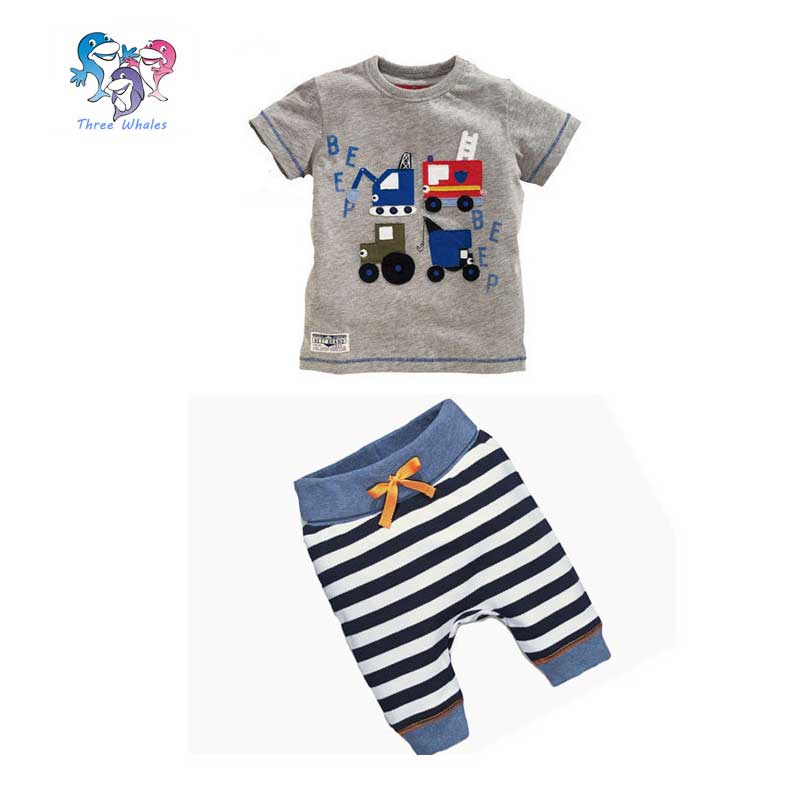 Wholesale Toddler Summer Clothes T shirt And Stripe Pants