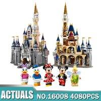 Модель Строительство комплекты совместимые с лего 71040 Золушка Принцесса замок City 4080 шт. 3D кирпичи Рисунок модель здания игрушки