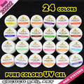 #20202 Ezflow pure color uv nail gel of  uv gel nails 24color  freeshipping Canni