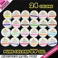 #20202 ezflow pure color uv gel de uñas de gel uv canni uñas 24 color freeshipping
