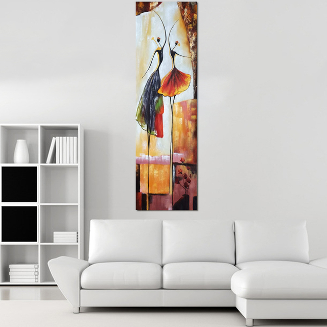 abstract ballet dancers print handed canvas oil painting decorative