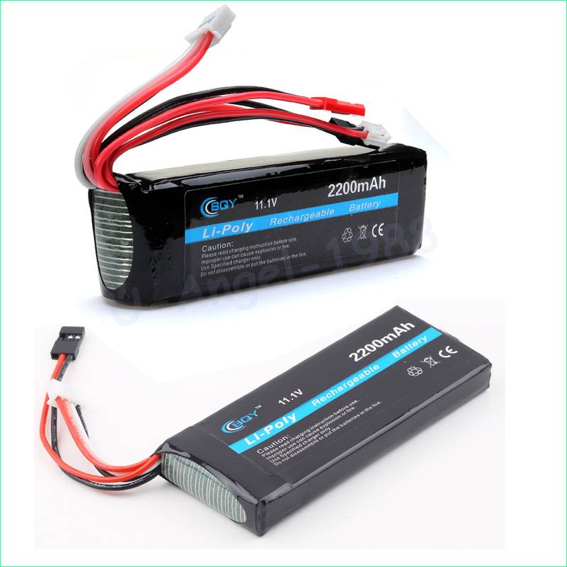 1 unids bqy poder Lipo 3 s 11.1 V 2200 mAh 8C 3 gruesa delgada tamaños de lipo batería Para Jr futaba BEC para RC juguete