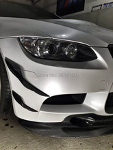 4 PCS E92 E93 M3 Front Bumper Canards Of The KT Style Carbon Fiber Materail olotdi carbon fiber front lip spoiler gts style front bumper for bmw e92 e93 m3 bumper car styling accessories factory