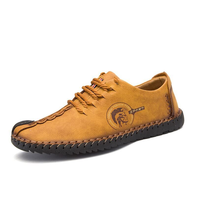 New Comfortable Big Size 38-46 Casual Shoes Loafers Men Shoes Quality Split Leather Shoes Men Flats Moccasins Shoes Footwear