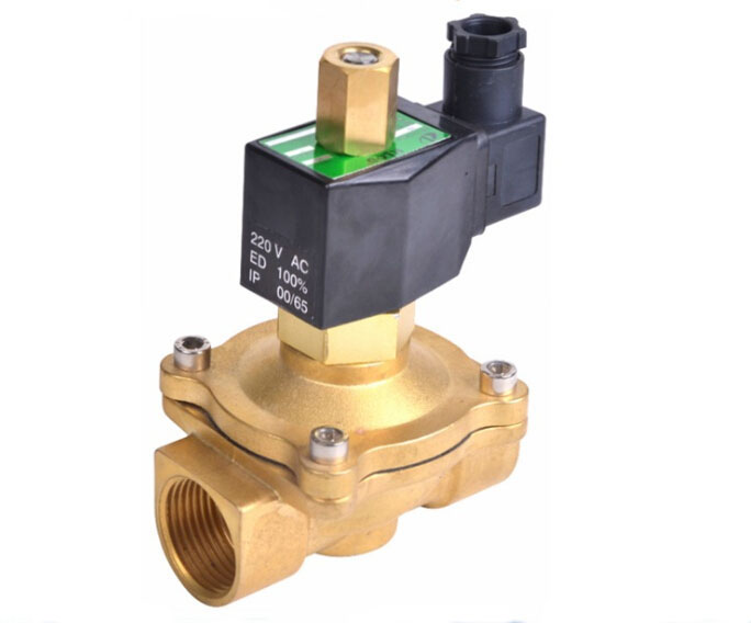 2  inch   2W series normally open solenoid valve brass electromagnetic valve air ,water,oil,gas 1 1 4 inch 2w series normally open solenoid valve brass electromagnetic valve air water oil gas