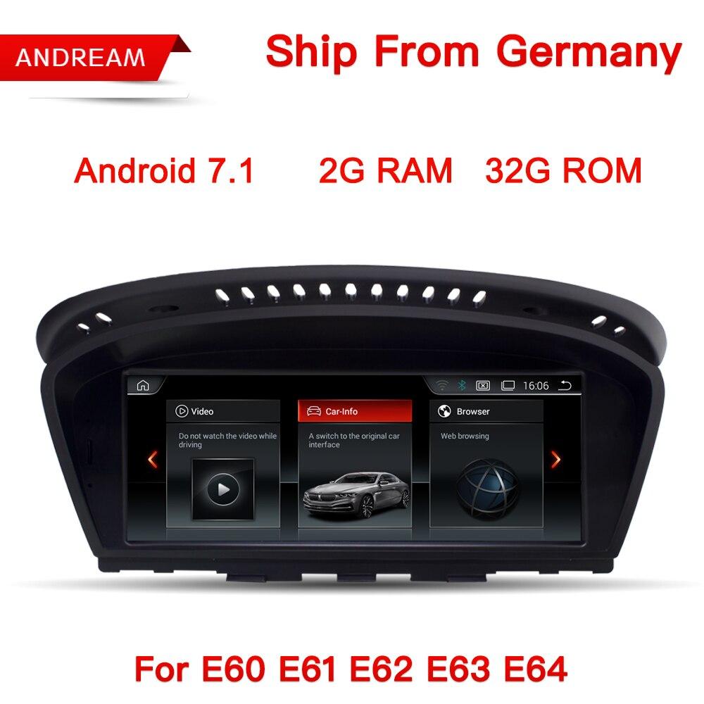 Android 7.1 GPS Navigation 8.8 Écran Lecteur Multimédia Pour BMW Série 5 E60 E61 E62 E63 Bluetooth EW963B