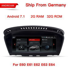 Android 7.1 GPS Navigation 8.8″ Screen Multimedia Player For BMW Series 5 E60 E61 E62 E63 Bluetooth EW963B