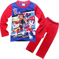 3-8 years sleepwear long sleeve cartoon pajamas children  kids baby  toddler  cotten boy pajamas  pyjamas puppy patrol clothing