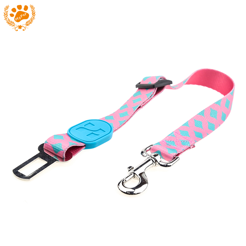 New Adjustable Dog Cat Car Seat Belt Safety Leash Vehicle Polyester Seatbelt Dogs Car-Seat Belts Retractable Pet Traction Rope