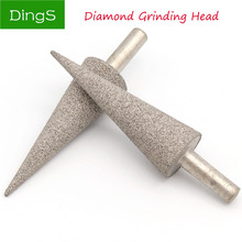 купить 1pcs 100 Grit Diamond Grinding Head 6mm Shank Bits Burrs Grinding Needle for Metal Stone Jade Engraving Carving Tools дешево