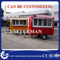 Multifunction food cart mobile juice trailer new shaved ice machine food cart with equipments food trailer