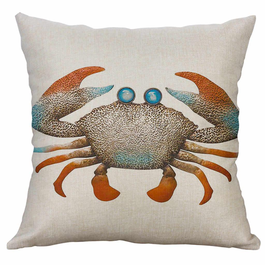 Новый наволочка морской жизни льняной чехол для подушки украшения дома Kussenhoes Housse de cussin cojines наволочка Funda Cojin