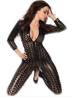 Женский черный серебряный золотой сексуальный полый певец хип-хоп в джазовом стиле для ночного клуба боди танцевальный костюм Рианны Сценические костюмы для певцов - Цвет: Black