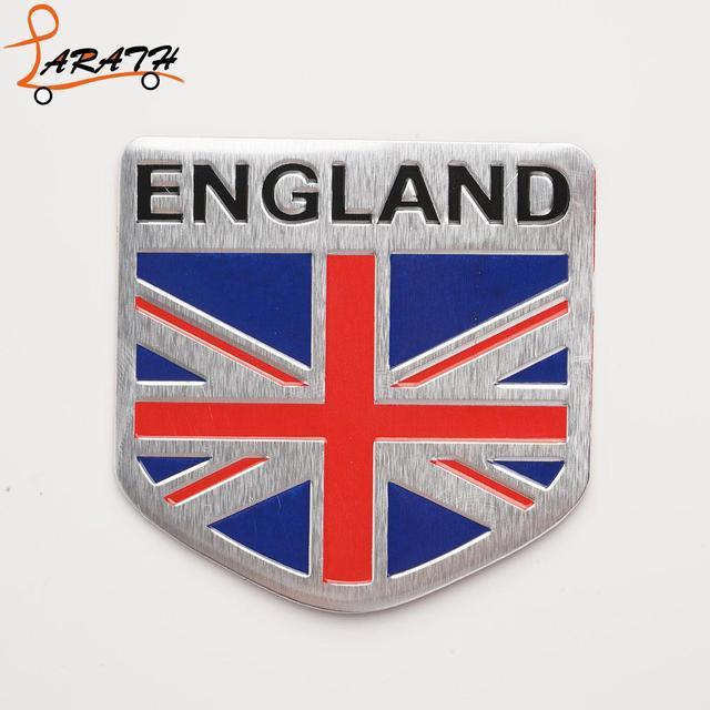 Larath Silver England Uk Shield Type Square Shape Flag Emblem Badge