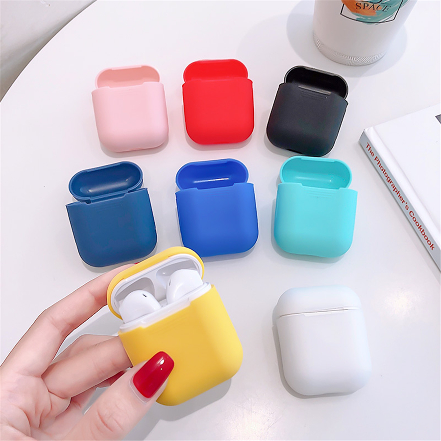 Dpower TPU Silicone Bluetooth Wireless Earphone Case For AirPods Protective Cover Skin Accessory for Apple Airpods Charging Box