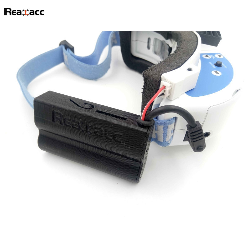 Original Realacc 18650 Li-ion Battery Case Replaced Refit Storage Cover Protector For Fatshark Goggles RC Quadcopter 4 2v 6a 1s lithium battery protection pcb bms board for 18650 18550 li ion lipo battery cell
