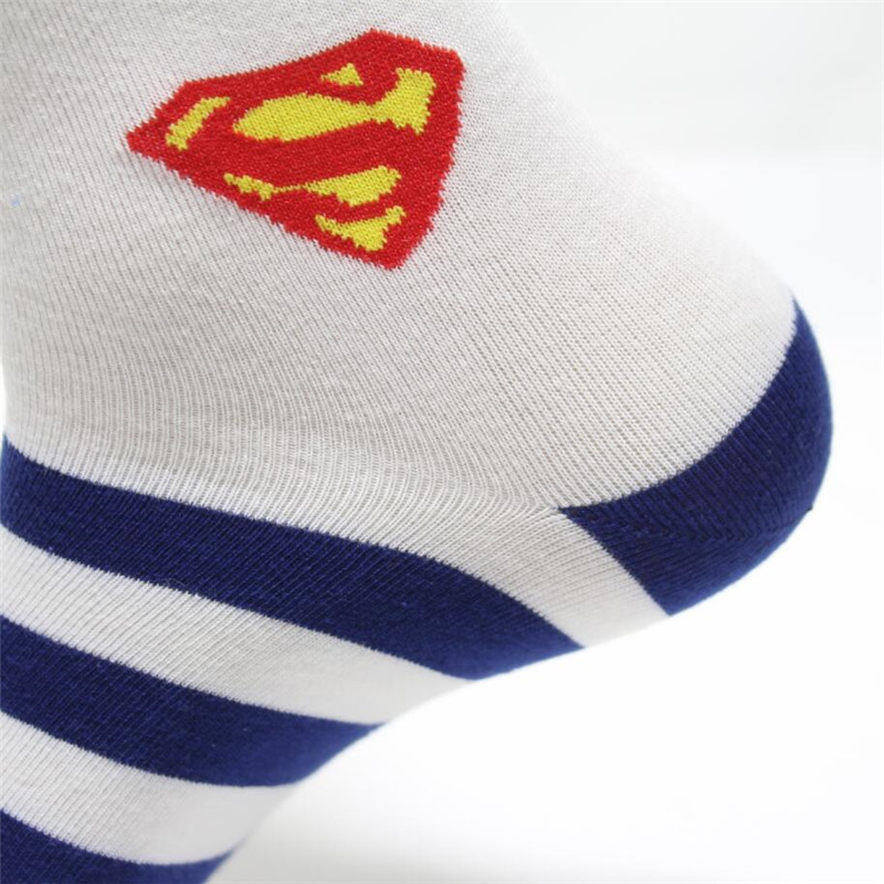 79a24a07947 Hot sell men socks cotton superman spider man fashion cotton striped black socks  high quality men s and male hip hop socks-in Men s Socks from Underwear ...