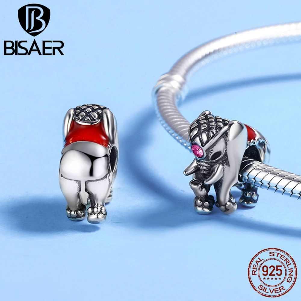 925 argent Sterling Animal hibou petit éléphant chatte chien chat tortue poisson perles breloque fit bracelet à breloques argent 925 bijoux