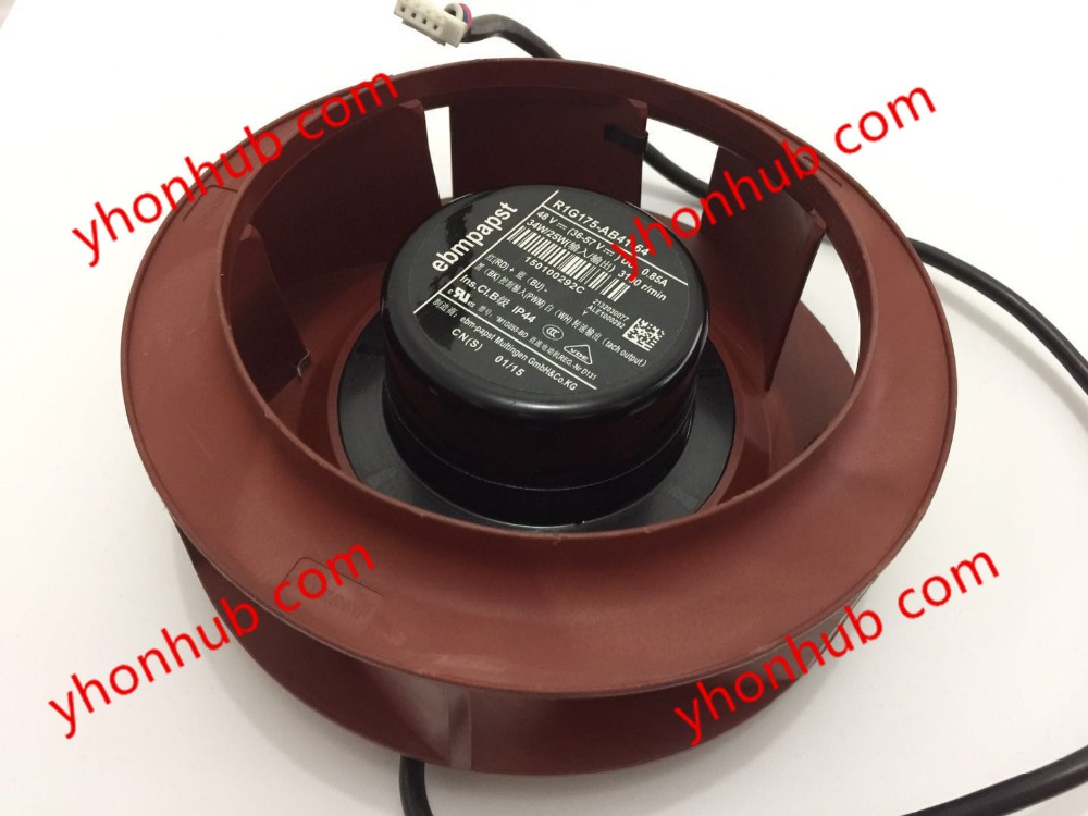 ebm papst R1G175-AB41-64 DC 48V 34W 4-wire 4-pin 100mm Server Square fan free shipping for avc baaa0705r5hpoff dc 5v 0 40a 4 wire 4 pin connector server cooling square fan