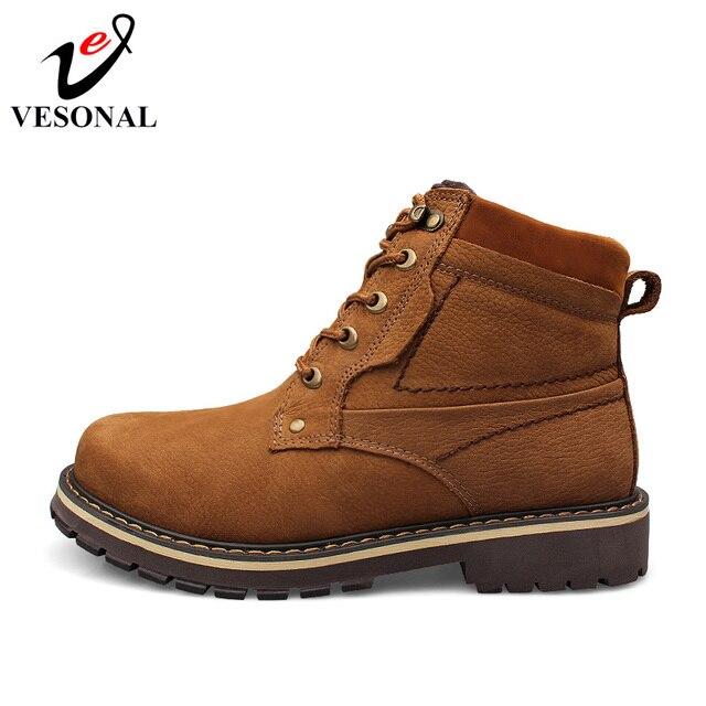 VESONAL 2018 de moda de invierno botas de nieve ocasionales para hombres  zapatos cómodos zapatos desgaste 7c6f5ecd6d5
