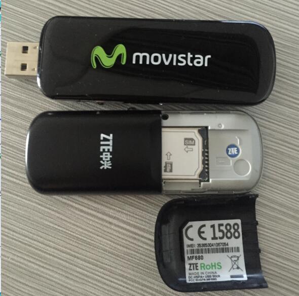 Free shipping  unlocked ZTE MF680 3.75G 42Mbps wireless network card 4G modem HSPA+ telit ln930 dw5810e m 2 twh3n ngff 4g lte dc hspa wwan wireless network card for venue 11