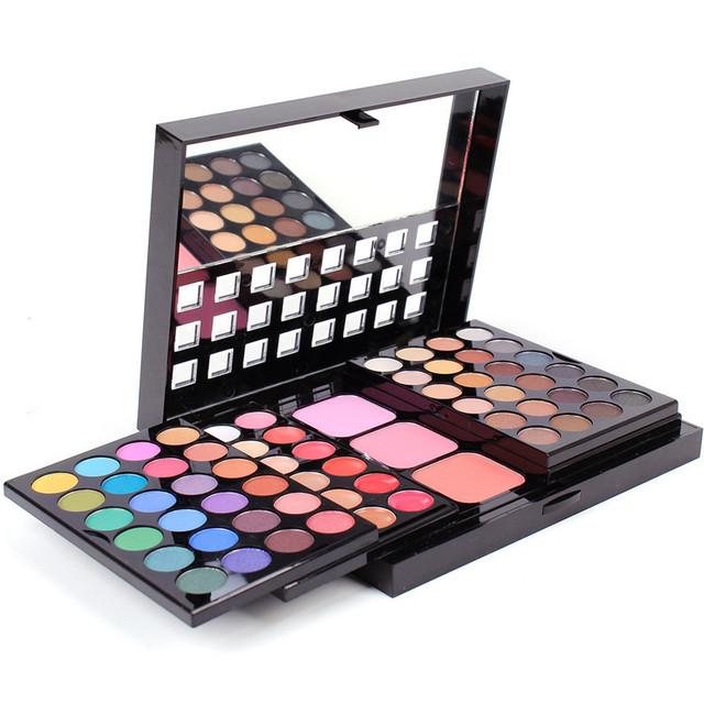 78 Cores Multifunções Iluminar Da Paleta Da Sombra Matte Shimmer Radiante de Longa-duração Profissional Paleta de Maquiagem Dos Olhos Cosméticos