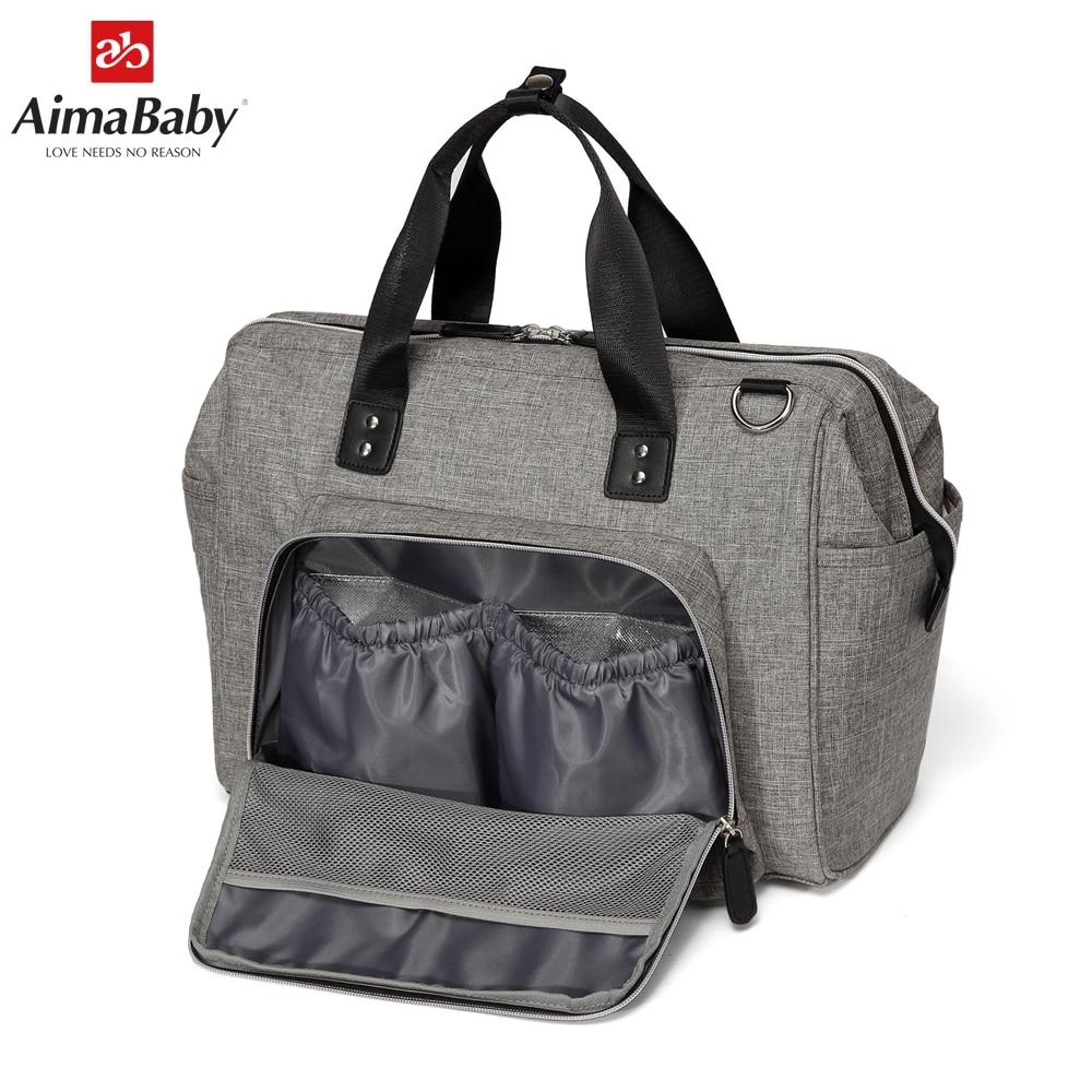 Aimababy grand sac à langer organisateur marque Nappy sacs bébé voyage maternité sacs pour mère bébé poussette sac à main couche - 3