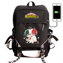 My Hero Academia Laptop plecak z ładowarką USB Boku no Hero Academia COS plecak szkolny plecak wodoodporny plecak podróżny
