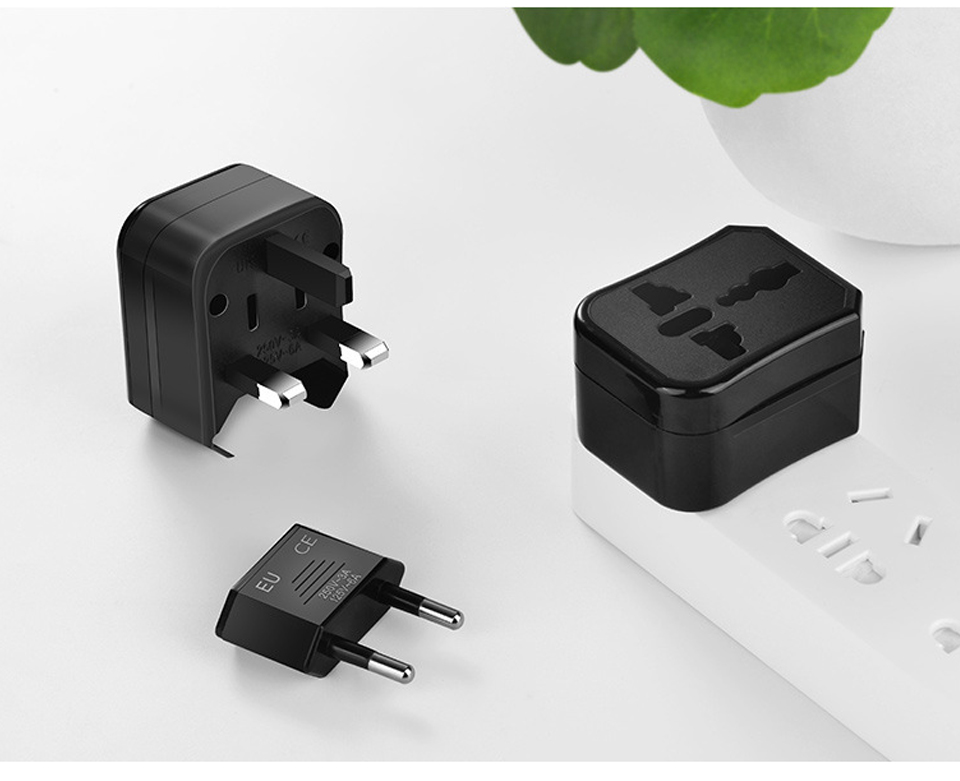 Three-in-one Global Travel Conversion 3 Sockets Plugs Universal Adapter Travel Abroad Converter Household Plugs USAUEUUK (10)