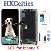 2PCS 5.8 Inch For iPhone X LCD +Touch Screen No Dead Pixel AMOLED Panel Assembly Phone Replacement Part For iPhone X LCD Display