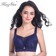 bras for women New super large cup size lingerie  Fat mm lace gathered to adjust No steel rim underwear CDE