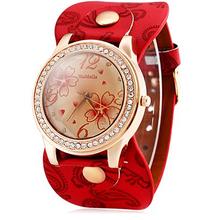 Kobieta zegarek 2018 Womage zegarek kryształ zegarki damskie Oversize tarcza kwarcowy zegarki Relogio Feminino montres femme dames horloge tanie tanio 30mm QUARTZ Skóra Okrągły Nie wodoodporne Szkło 10mm Moda casual 42mm Klamra 24cm Brak Nie pakiet 9066 Ze stali nierdzewnej