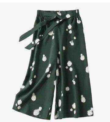 Pantalon droit en soie seven