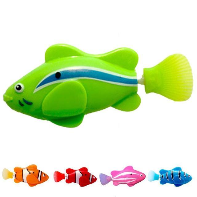 Elettronico di Pesce Nuotare Giocattolo Batteria Inclusa Robot Da Compagnia per I Bambini Da Bagno Giocattolo del bambino di Pesca Serbatoio Decorazione Agire Come Vero E Proprio Pesce 1