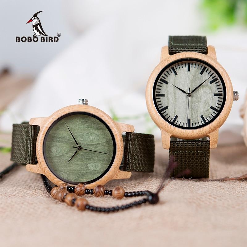 BOBO BIRD Relojes de bambú de madera natural para mujer Reloj - Relojes para hombres - foto 5