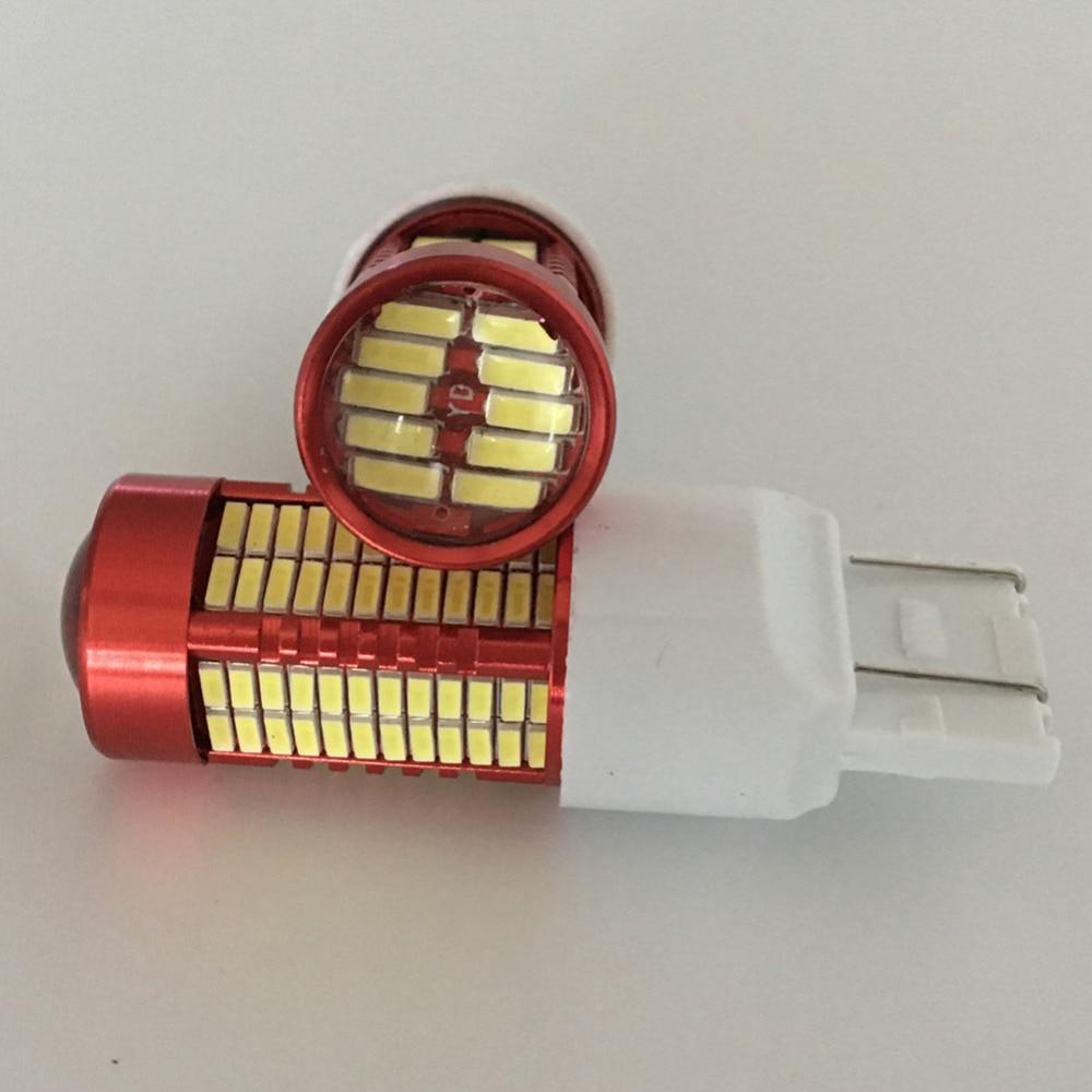 2PCS Led Light 50W 6500K 7443 W16W T20 106SMD 4014 - Автомобилни светлини - Снимка 2