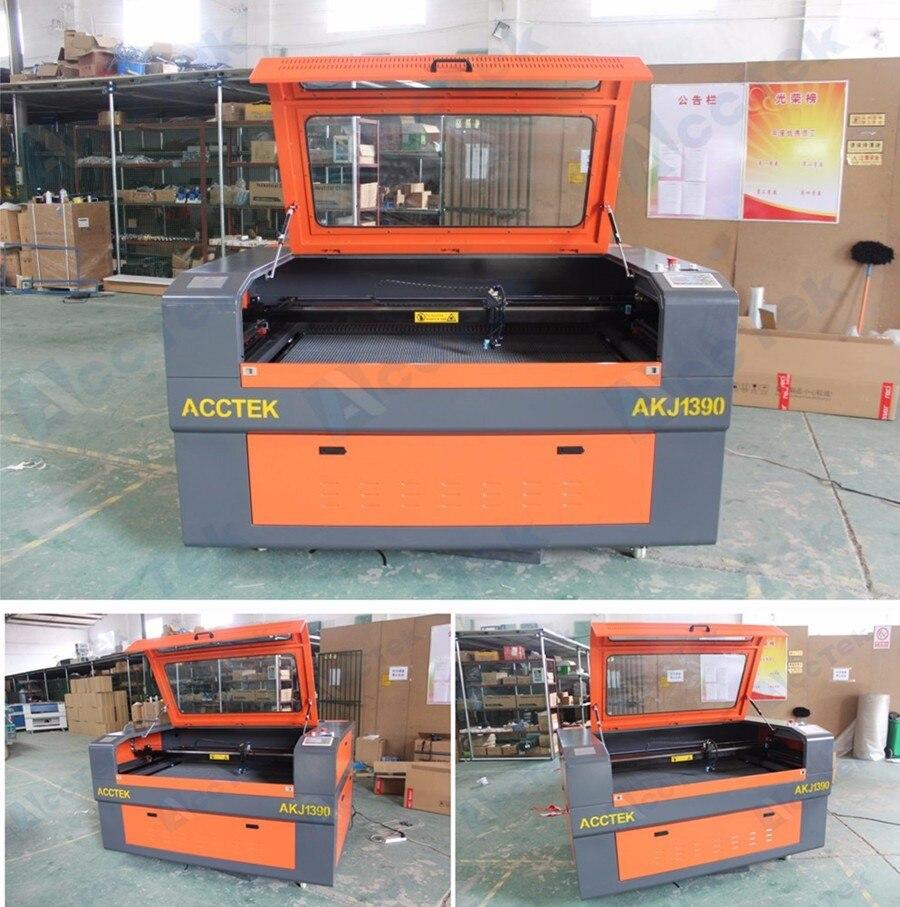 Laser gravure sur bois prix de la machine AKJ1390 co2 laser fractionné laser coupe pour le refroidissement à l'eau du bois