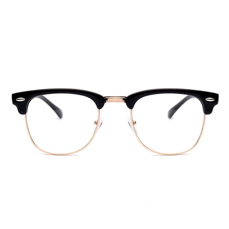 Retro Moda Metal Yarım Çerçeve Gözlük Çerçeve Kadın Erkek - Elbise aksesuarları - Fotoğraf 4