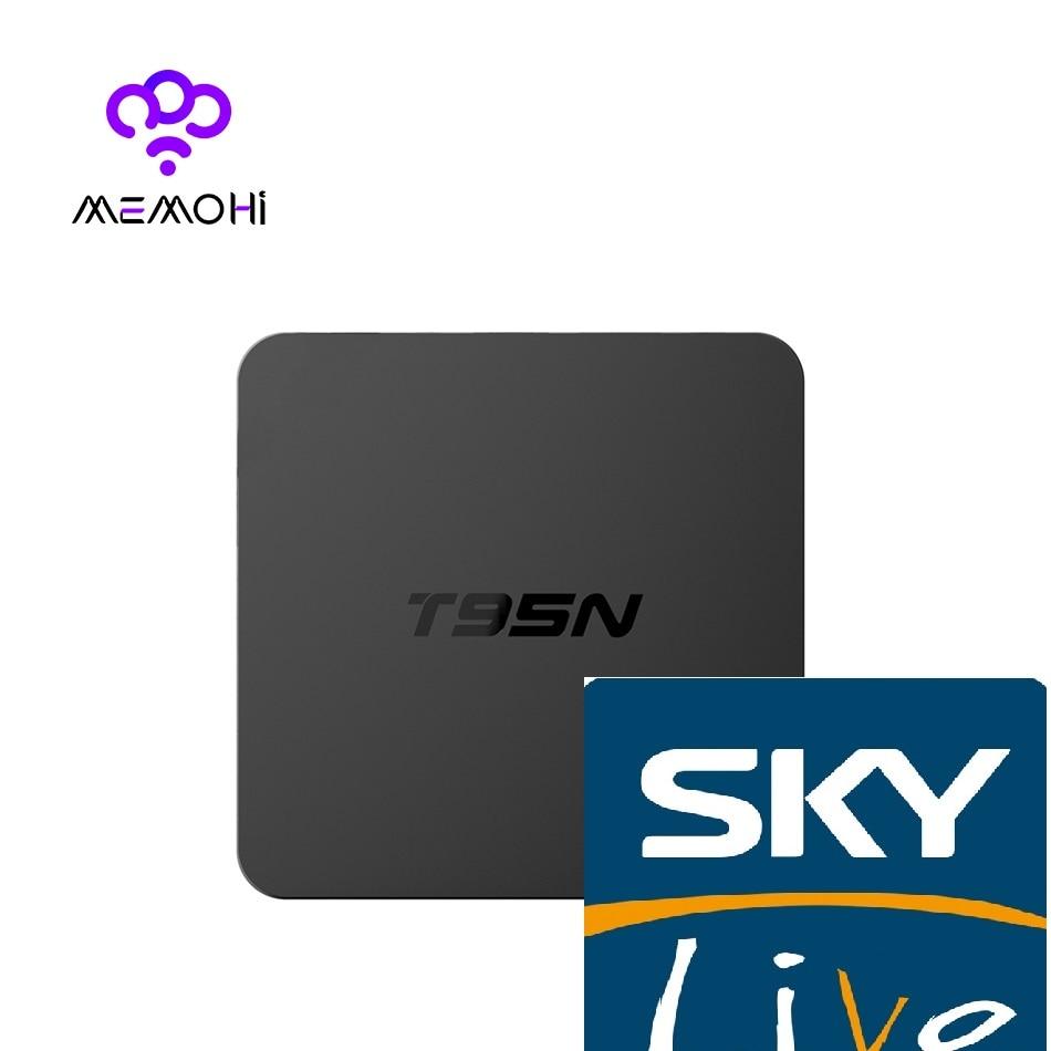 T95N 1GB 8GB Skylive Amlogic S905X  Android 6.0 Smart TV 500+UK Italy Germany Turkey Greece France Arabic India IPTV Set-top Box