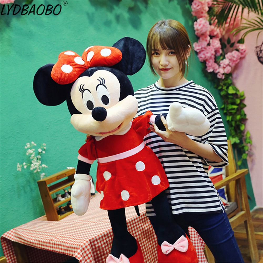 100cm Super Giant 3 Color Mickey Mouse Minnie Mouse Stuffed Plush Kid Toy Soft Children Baby Lover Valentine Day Birthday Gifts стоимость