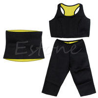 Sports Suit Outdoor Sports Pants Vest Waistband Super Stretch Neoprene Shaper Sport Pants Set Waist Traning