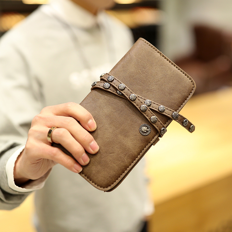 Tidog Vintage long wallet fashion men wallet