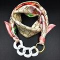 Mujeres Silenciador Bufanda Pendiente de la Moda Collar Bufanda del Mantón Floral Impresa de Las Mujeres 2016 Otoño Invierno Cálido Bufanda de Moda Decorar