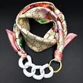 Women Muffler Pendant Scarf Shawl Floral Printed Women's Fashion Necklace Scarf 2016 Autumn Winter Warm Decorate Fashion Scarf