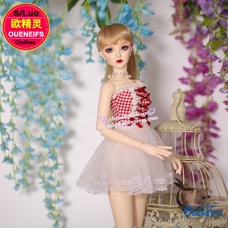 OUENEIFS free shipping strapless dress wrapped chest slim chiffon dress 1/3 bjd sd baby clothes, have not doll or wig YF3 to 49 1 6 27cm bjd nude doll wave bjd sd doll girl human body not include clothes wig shoes and other access