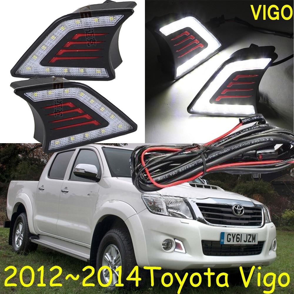 LED Headlight,2012~2014 Vigo daytime light,Hilux,led,Black/Silver color,Free ship!2pcs/set,Vigo fog light;Vigo Hilux автоинструменты new design autocom cdp 2014 2 3in1 led ds150