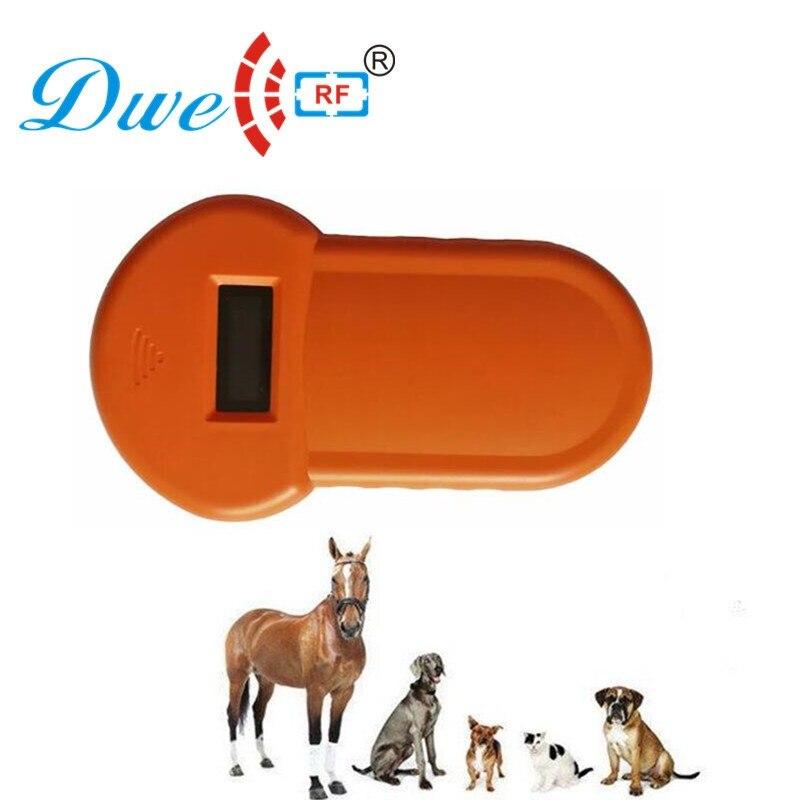Mini Handheld rf rfid micro animal pet chip reader 134.2khz fdx-b for horses dogs sheep  ...