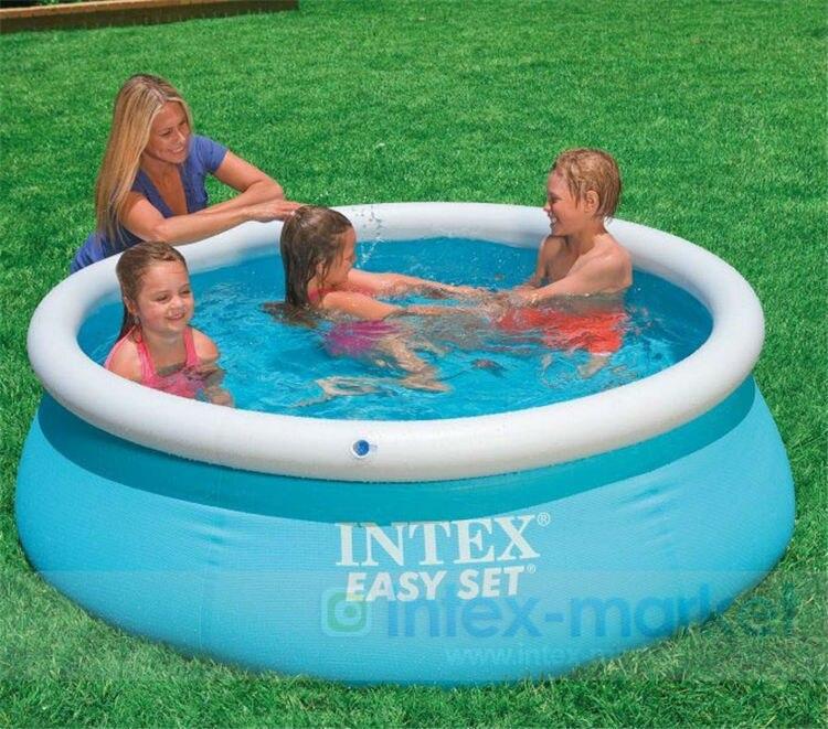 Kingtoy maison jardin enfants piscine gonflable adultes et enfant PVC piscine d'eau 1-10 personne été jouet de plein air - 3