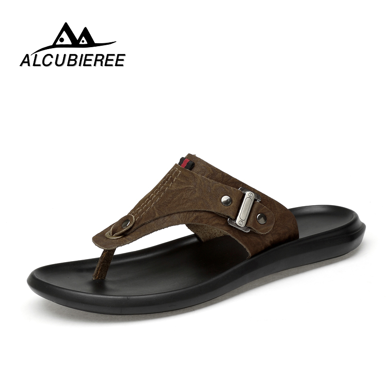ALCUBIEREE Men's Casual Shoes Beach Breather Sandals Male Lightweight Antiskid Outdoor Slippers Summer flip flops Zapatos Hombre