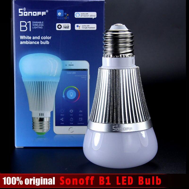 Sonoff B1 Led-lampe Dimmer Wifi Smart Glühbirnen Fernbedienung Wifi Lichtschalter Led Farbwechsel Glühbirne Arbeitet Mit Alexa